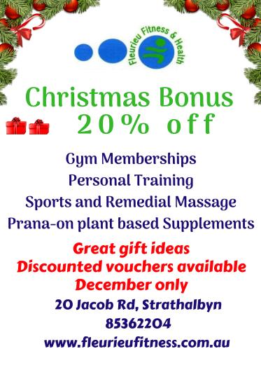Fleurieu Fitness Strathalbyn Willyaroo Christmas Bonus